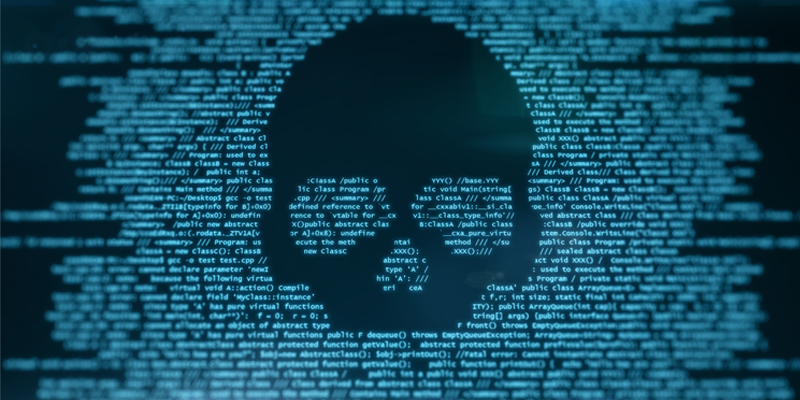 skull and code
